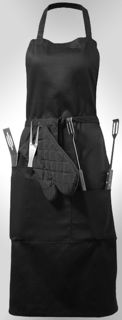 Bear Bbq Apron With Utensils And Glove thumbnail
