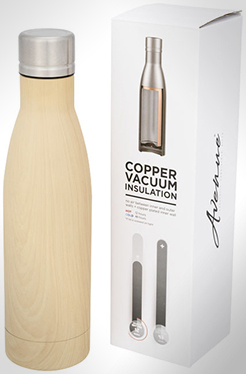 Vasa Wood Copper Vacuum Insulated Bottle thumbnail