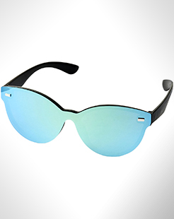 Shield Sunglasses With Full Mirrored Lens thumbnail