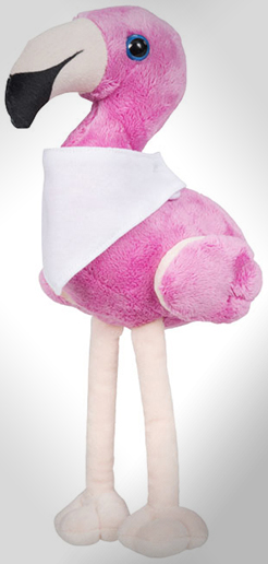 Flamo Plush Flamingo With Brandable Bandana thumbnail