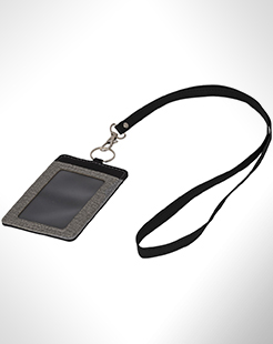 Eye-D Heathered Badge Holder With Lanyard thumbnail