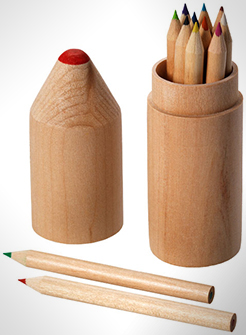 Woody 12-Piece Coloured Pencil Set thumbnail