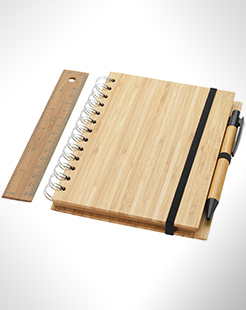 Franklin B6 Bamboo Notebook With Pen And Ruler thumbnail
