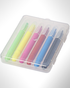 Phiz 6 Retractable Crayons In Plastic Case thumbnail