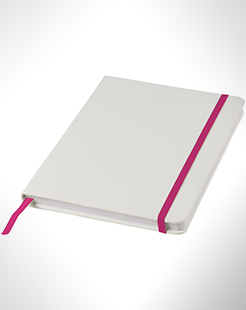 Spectrum A5 White Notebook With Coloured Strap thumbnail