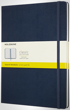Classic Xl Hard Cover Notebook - Squared thumbnail