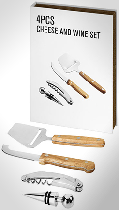 Nantes 4-Piece Wine And Cheese Gift Set thumbnail