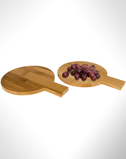 Ayden 2-Piece Bamboo Amuse Set In Round Shape thumbnail