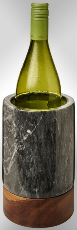 Harlow Marble And Wood Wine Cooler thumbnail