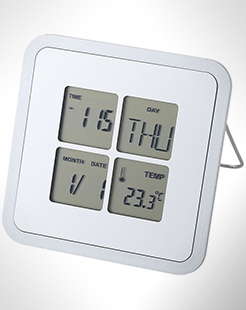 Livorno Desk Clock With Temperature thumbnail