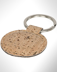 Cork-Look Rounded Keychain thumbnail