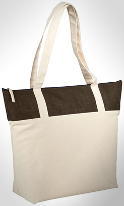 Jones Tote Bag Made From 407 G/M Cotton And Jute thumbnail