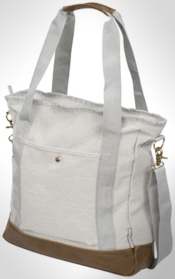Harper Zippered Cotton Canvas Tote Bag thumbnail
