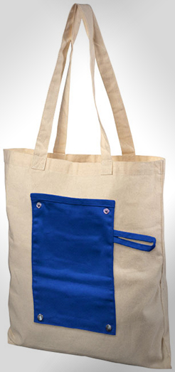 Snap 180 G/M Roll-Up Buttoned  Cotton Tote Bag thumbnail