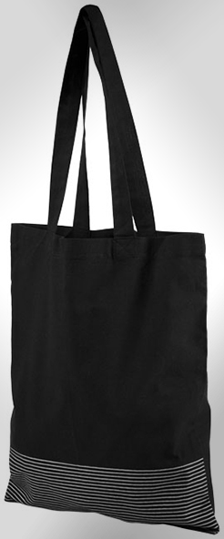Aylin 140 G/M Silver Lines Cotton Tote Bag thumbnail