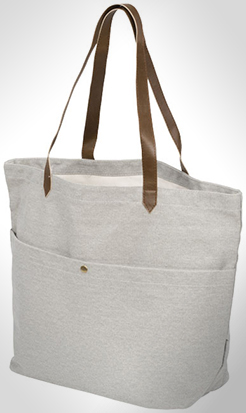 Harper Cotton Canvas Book Tote Bag thumbnail
