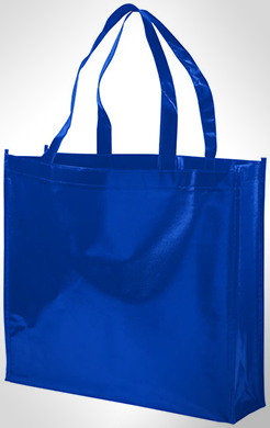 Shiny Laminated Non-Woven Shopping Tote Bag thumbnail