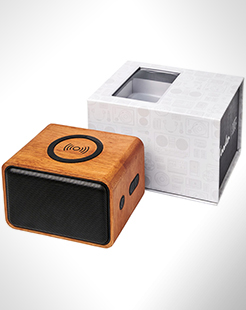 Wooden Speaker With Wireless Charging Pad thumbnail