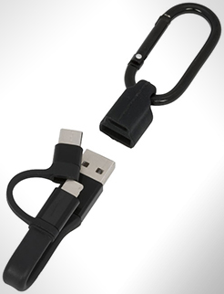 Fold 3-In-1 Charging Cable With Carabiner thumbnail