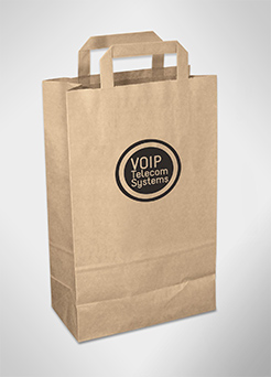 Recycled Medium Retail Paper Carrier Bags thumbnail