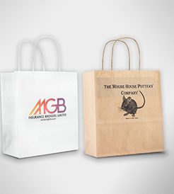 Full Colour Digital Print Sustainable Small Paper Carrier Bag thumbnail