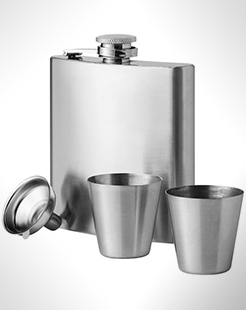 Texas 175 ml Hip Flask With Two Shot Tumblers thumbnail