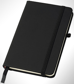 Noir A6 Notebook With Lined Pages thumbnail