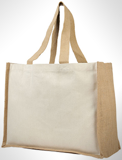 Varai 340 G/M Canvas And Jute Shopping Tote Bag thumbnail