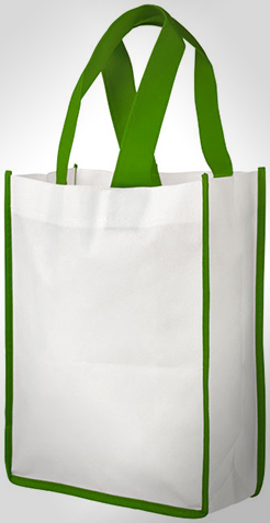 Contrast Small Non-Woven Shopping Tote Bag thumbnail