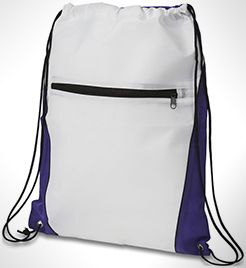 Contrast Non-Woven Drawstring Backpack thumbnail