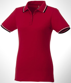Fairfield Short Sleeve Women's Polo With Tipping thumbnail