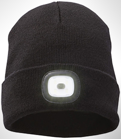 Mighty Led Knit Beanie, Black thumbnail