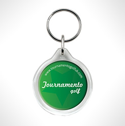 Round Shaped Acrylic Plastic Keyrings thumbnail