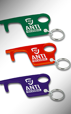 Hygiene Hook Antimicrobial Keyring - Colours thumbnail