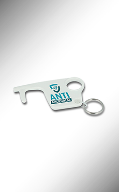 Hygiene Hook Antimicrobial Keyring - White thumbnail