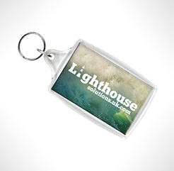 Super Sized Rectangular Acrylic Plastic Keyrings thumbnail