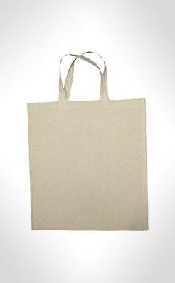 Short Handled Biodegradable Cotton Shopping Bags thumbnail