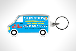 Van Shaped Acrylic Plastic Keyrings thumbnail
