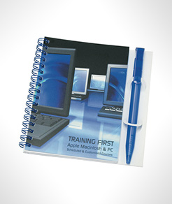 A6 Wire Bound Note Pads With Polyprop Cover & Pen thumbnail