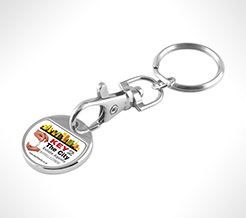 Full Colour Trolley Coin Keyring thumbnail
