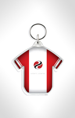 T-Shirt Shaped Acrylic Plastic Keyrings thumbnail