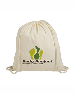 PromoNatural Cotton Drawstring Backpack thumbnail