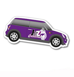 Car Taxi Shaped Magnet 48 x 114mm thumbnail