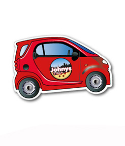 Smart Car Shaped Magnet 53 x 84 mm thumbnail