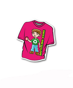 T-shirt Shaped Magnet 60 x 65 mm thumbnail