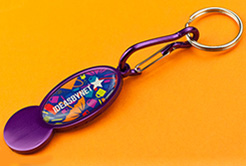 Trolley Mate Metal Keyring thumbnail